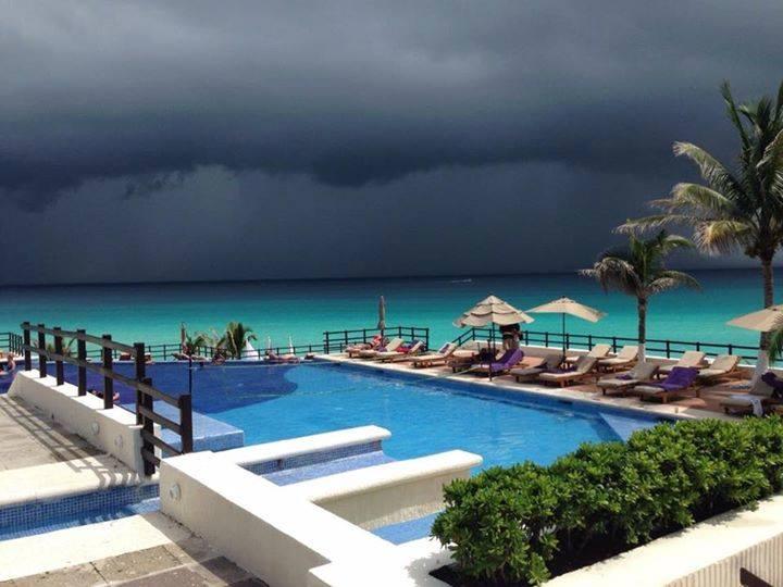La lluvia de Cancún