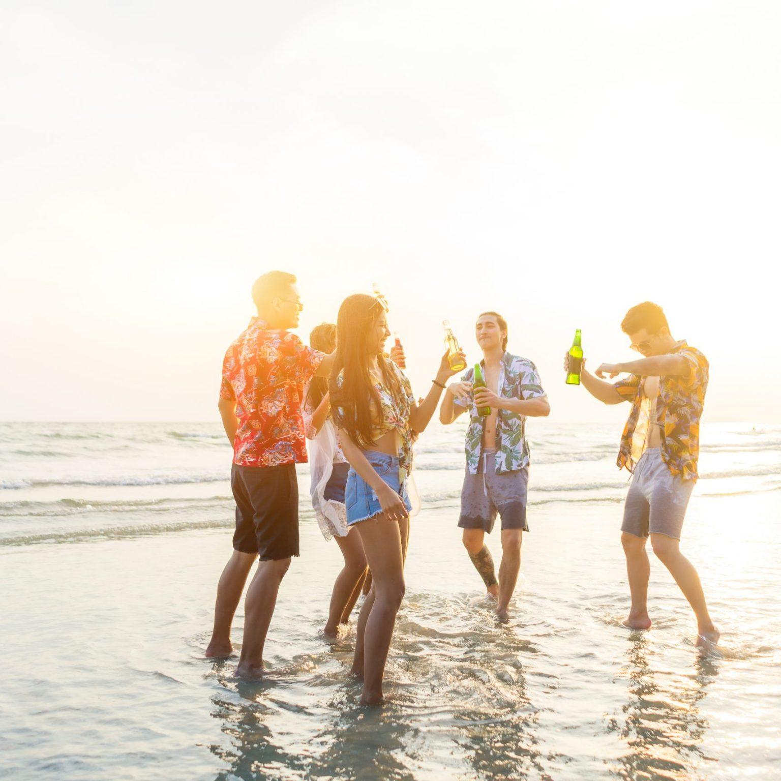 Fiesta en la playa Cancún