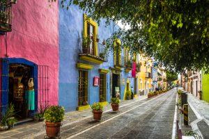 Plazuela de los sapos en Puebla