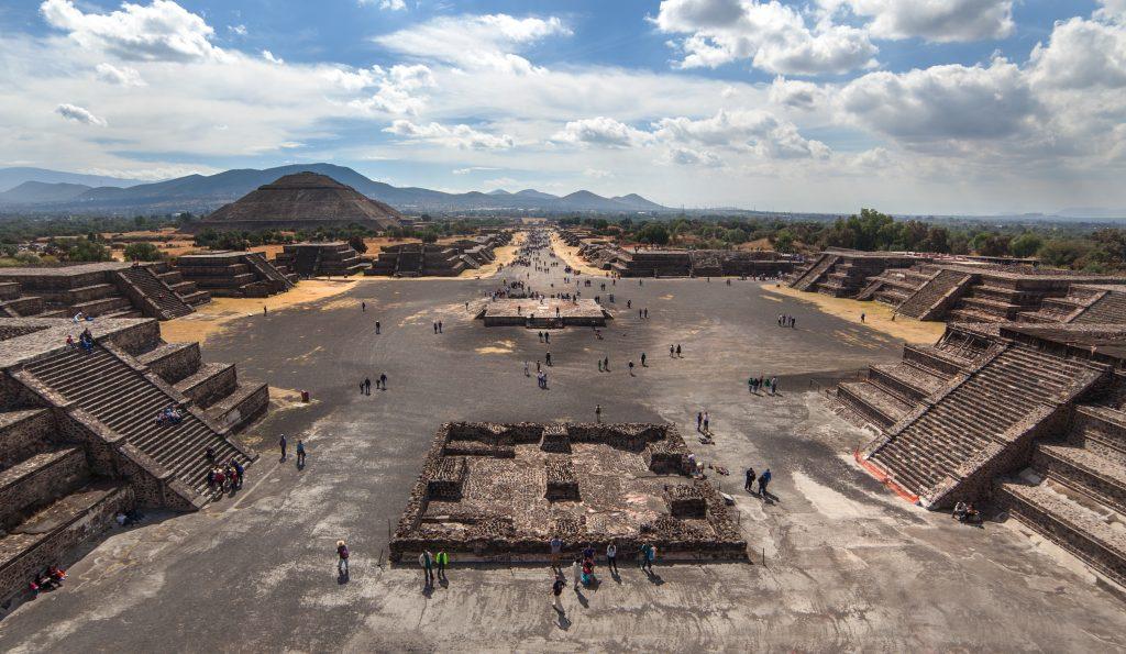 la zona arqueológica de Teotihuacán