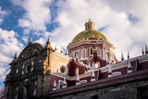 Exterior catedral de Puebla