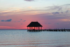 Panorámica del mar desde Isla Holbox