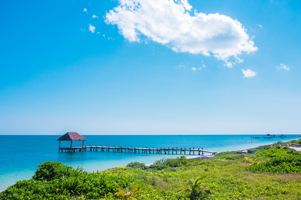 Panorámica Puerto Morelos en Cancún