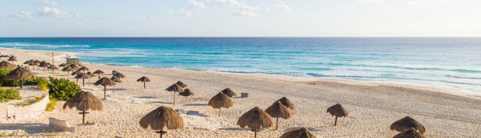 Panorámica en Playa Delfines, Cancún