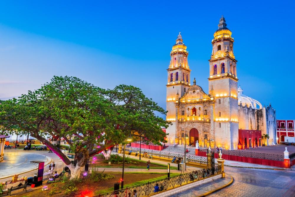 Preciosa ciudad de Campeche en México