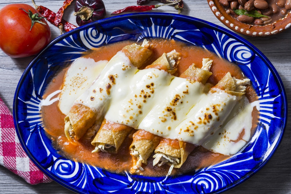 Enchiladas rojas originales de México