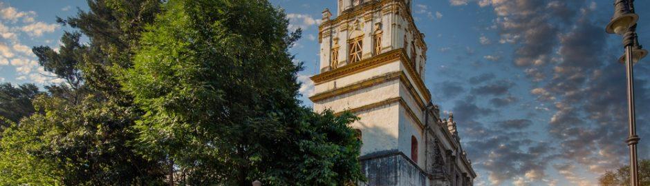 Iglesia en Coyoacán, México