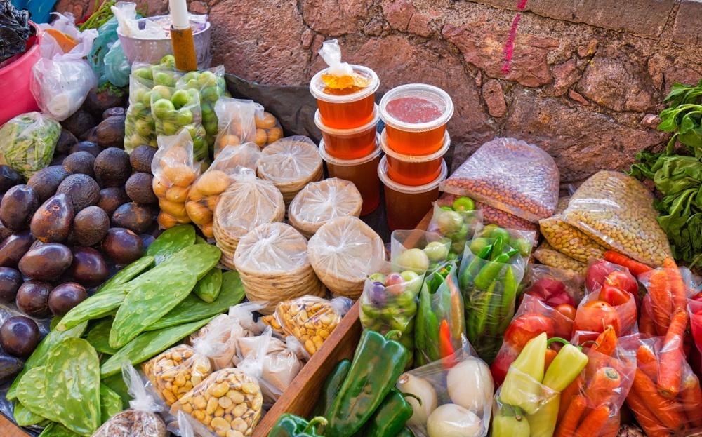Comida en el mercado de Guanajuato