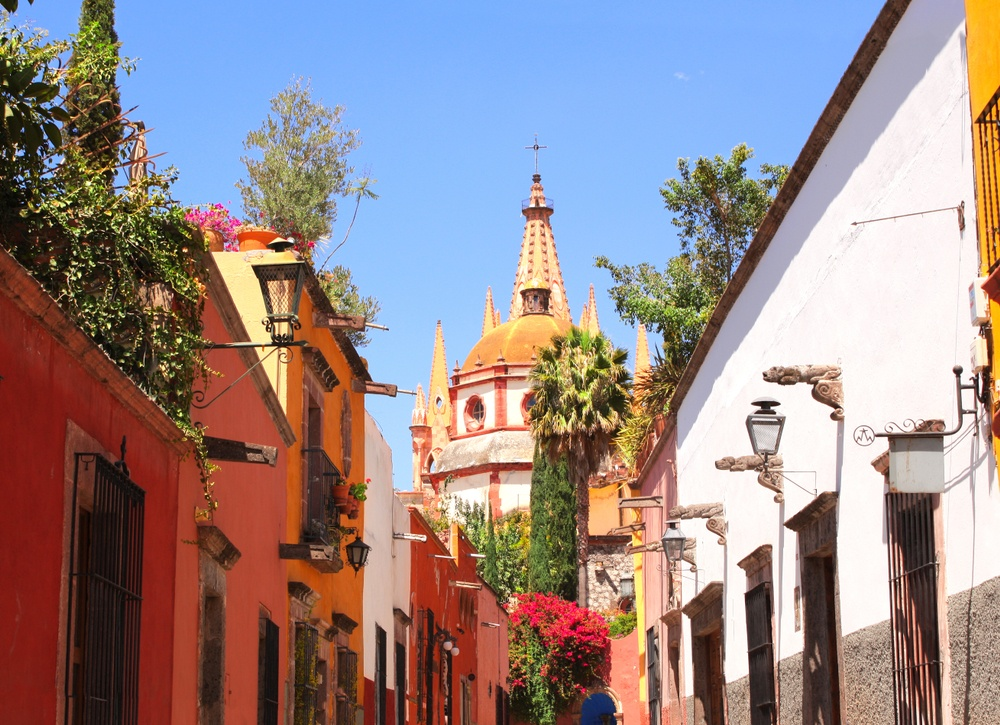 Cúpula de la iglesia en Guanajuato
