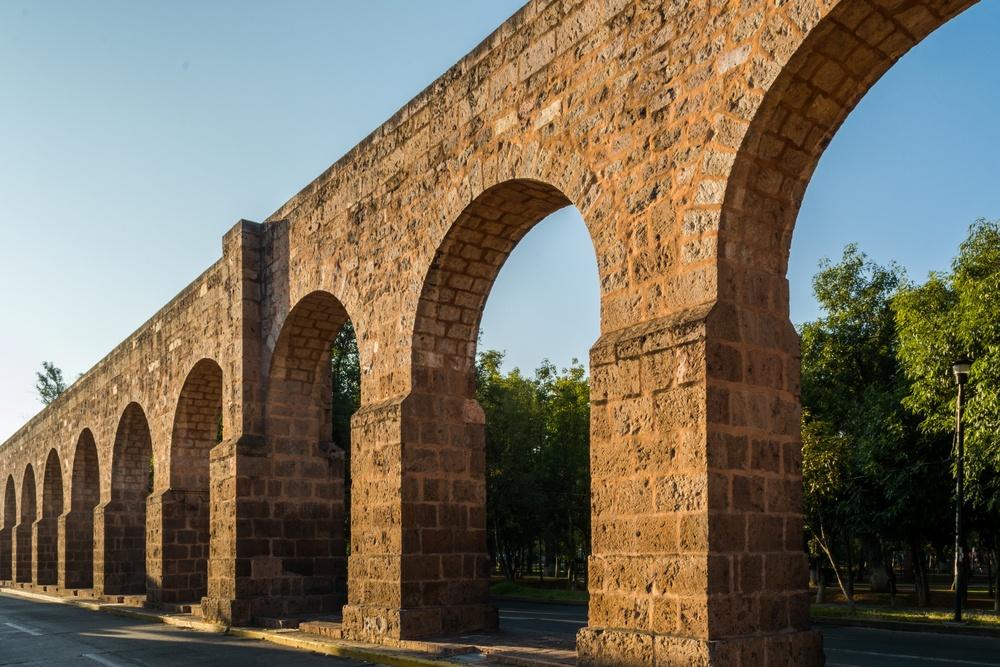 El acueducto de Morelia en Michoacán