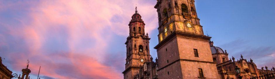 La catedral de Morelia, Michoacán