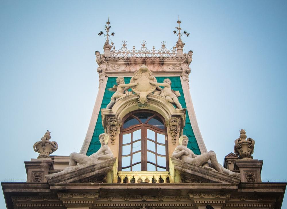 Detalle edificio de la Universidad de Chichuahua, Quinta Gameros