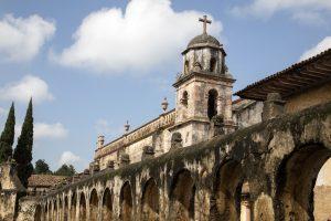 La iglesia de Patzcuaro en Michoacán