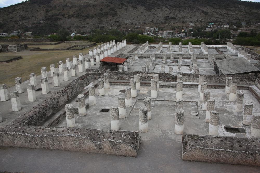 El palacio quemado en zona arqueológica de Tula de Allende, Hidalgo