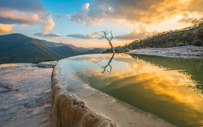 Piscinas naturales en Hierve el Agua, Oaxaca