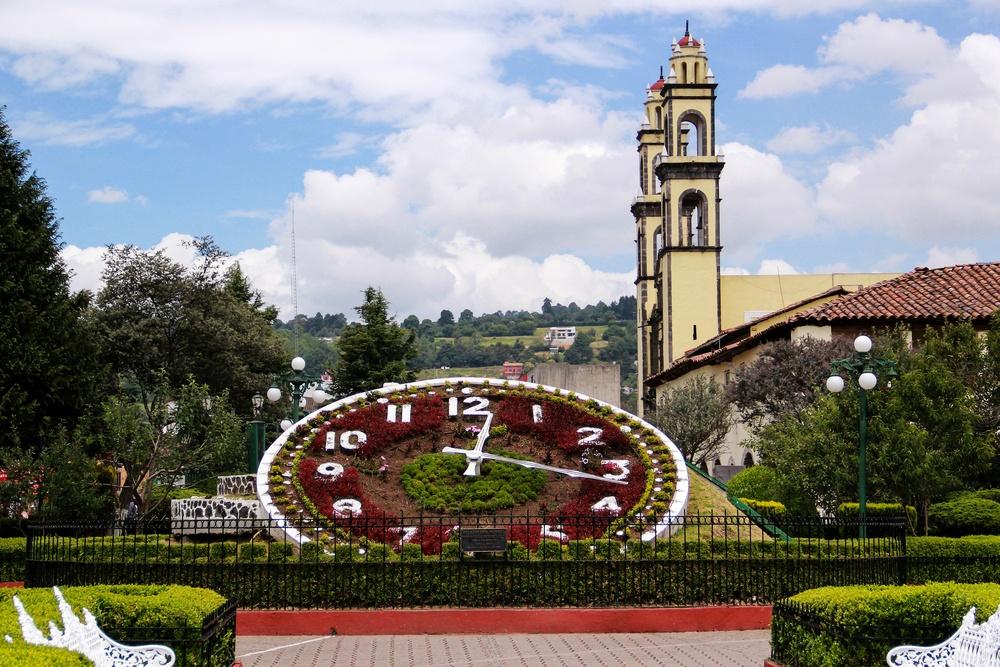 El reloj floral de Zacatlán