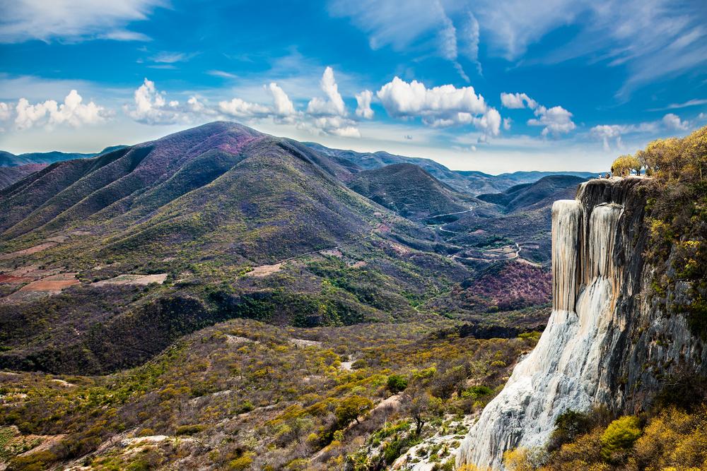 Cascadas petrificadas en Hierve el Agua, Oaxaca