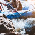 Haciendo Rafting en el parque Xavage
