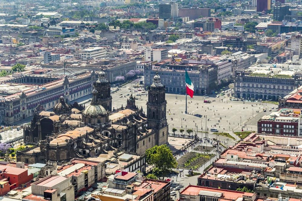 imagen panorámica del centro de la ciudad de Puebla