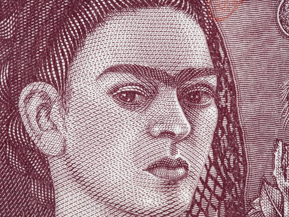 Dibujo billete Frida Kahlo