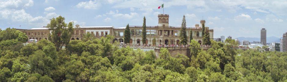 El Museo nacional en el parque Cjapultepec
