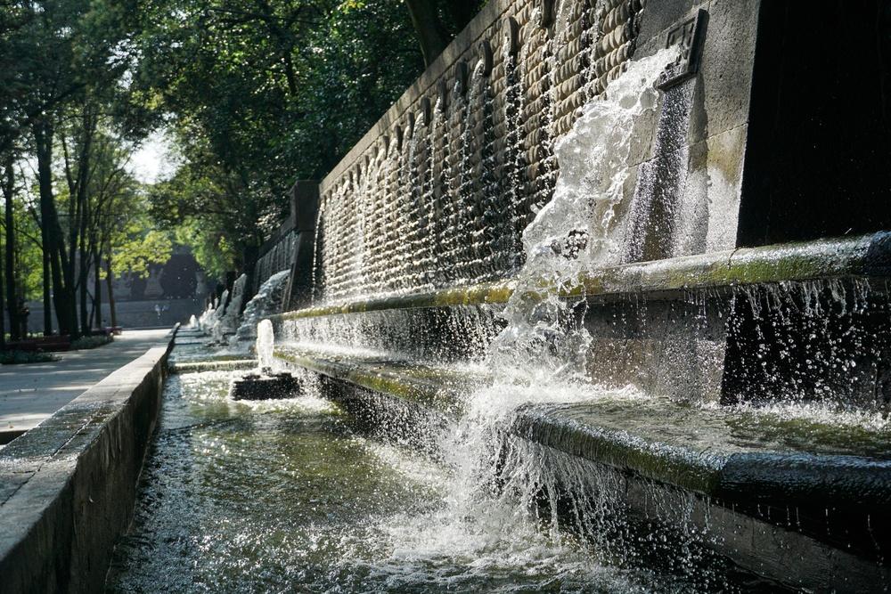Fuente parque de Chapultepec en Ciudad de México