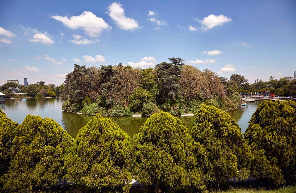 Lago en el parque de Chapultepec