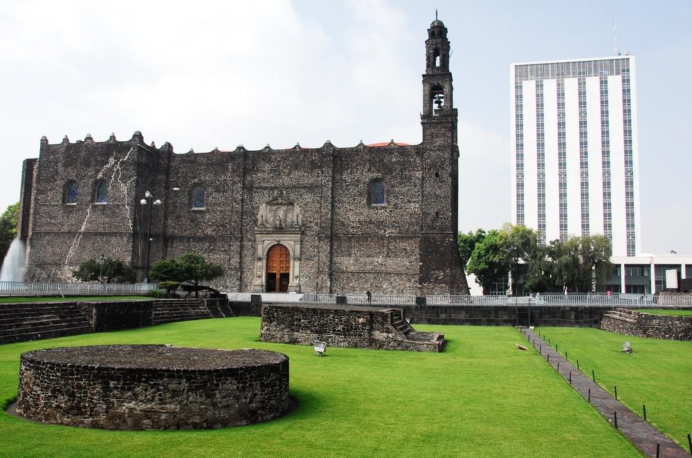 La plaza de las tres culturas en Ciudad de México