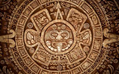 Mural antigua cultura azteca