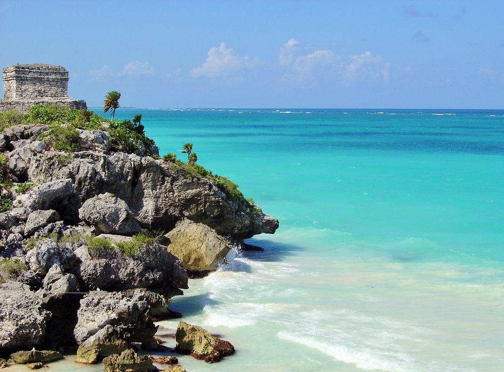 Playa cercana ruinas Tulum