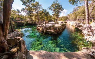 panorámica casa tortuga cenote