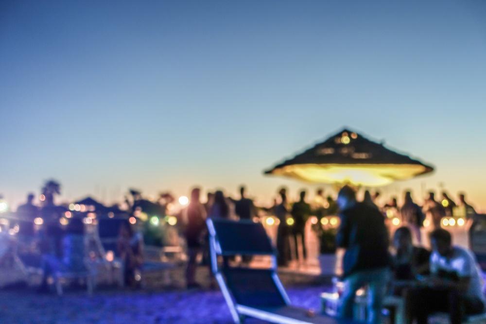 Beach club popular en Tulum