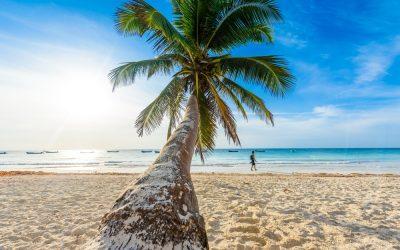 Vistas de la playa paraiso